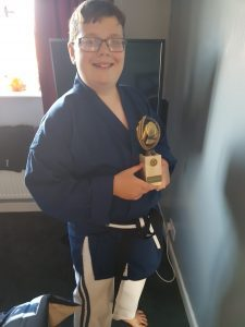 Student of the month award for Ju-Jitsu