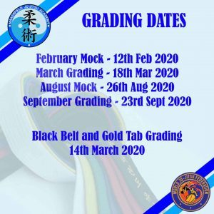 Makerfield Ju-Jitsu club grading dates